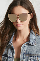 Forever 21 Mirrored Cat Eye Sunglasses