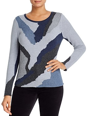Nic+Zoe Petites Back-Zip Sweater