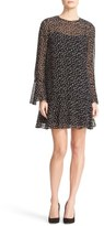 Theory Marah Starry Print Silk Dress