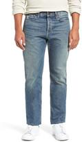 Current/Elliott Classic Fit Distressed Straight Leg Jeans (Coastal)