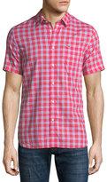 Lacoste Check Cotton Poplin Short-Sleeve Shirt