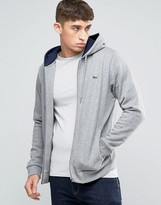 Lacoste Hoodie With Croc Logo In Gray