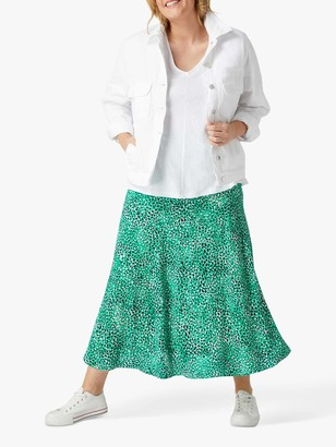 Live Unlimited Moroccan Midi Skirt, Jade Green