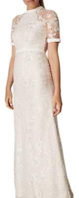 Phase Eight Bridal Poppy Embroidered Bridal Dress, Pearl