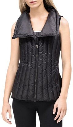 Calvin Klein Down Filled Drama Collar Vest