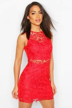 boohoo Crochet Mini Dress