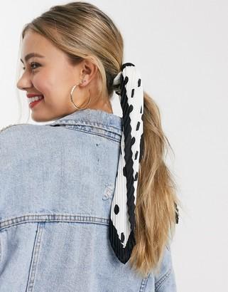 Accessorize hair scarf in polka dot