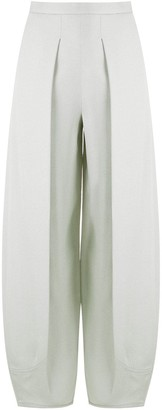Emporio Armani Pleated Wide-Leg Trousers