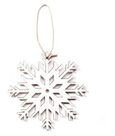 Hand Made Modern - Small Wood Snowflake Ornament - Snowflake 2