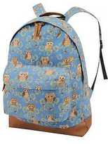 Yours Clothing YoursClothing Womens Owl Backpack Rucksack Adjustable Straps Front Pocket Blue