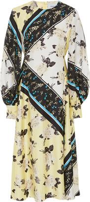 Erdem Annetta Printed Silk Crepe Midi Dress
