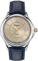 Salvatore Ferragamo Time 41mm Stainless Steel Watch, Beige
