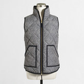 J.Crew Factory Printed quilted puffer vest