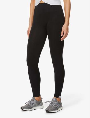 Calvin Klein Logo-print high-rise stretch-knit leggings