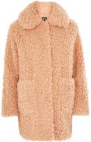 Topshop Curly Faux Fur Coat