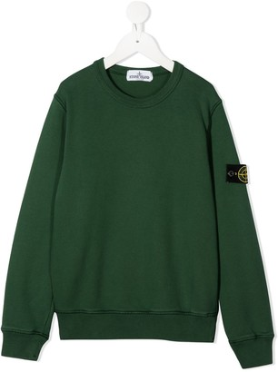 Stone Island Junior Logo Patch Sweater