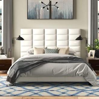 Three Posts Cassville Modern King Tufted Upholstered Low Profile Platform Bed