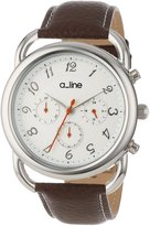 A Line a_line Women's 80012-02-BR Maya Chronograph Dial Brown Leather Watch