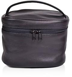 ROYCE New York Leather Top Handle Cosmetics Case