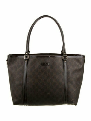 Gucci GG Coated Canvas Tote Bag Brown