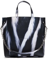 Calvin Klein Collection Lynx Printed Calf Tote With Chain Strap