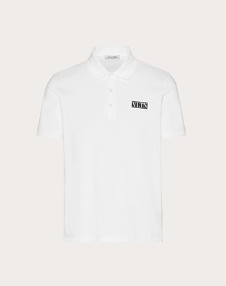 Valentino Polo With Vltn Tag Man White Cotton 100% L