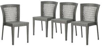 Emrich Outdoor Wicker Patio Dining Chair Orren Ellis