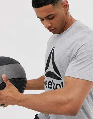 Reebok Training logo t-shirt in grey