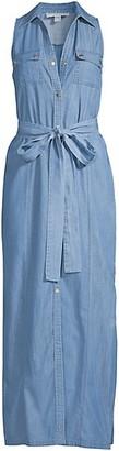 MICHAEL Michael Kors Chambray Maxi Shirtdress