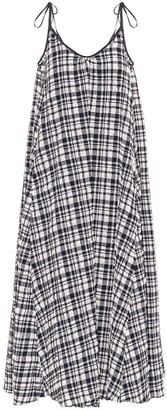 Solid & Striped Check maxi dress