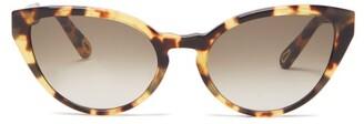 Chloé Willow Cat-eye Tortoiseshell-effect Sunglasses - Womens - Tortoiseshell