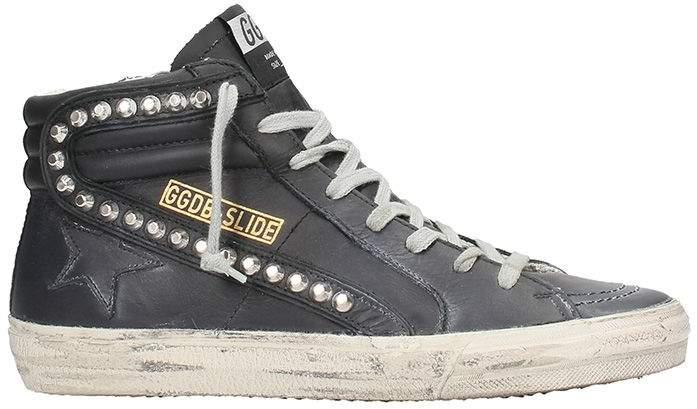 Golden Goose Slide Black Sneakers