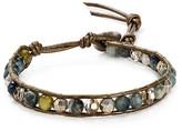Chan Luu Cat's Eye Beaded Leather Bracelet