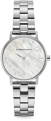 BCBGMAXAZRIA Classic Mother-Of-Pearl Stainless Steel Bracelet Watch