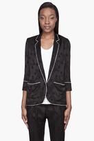 Smythe Black semi-gloss Jacquard Pajama Blazer