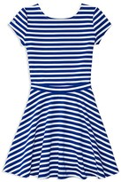 Ralph Lauren Girls' Striped Ponte Knit Top & Skirt Set - Big Kid