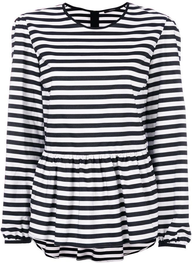 Odeeh striped peplum T-shirt