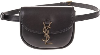 Saint Laurent Black-bronze Kaia Waist Bag
