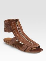 Givenchy Iguana Zip Sandals