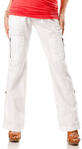 A Pea in the Pod Secret Fit Belly® Poplin Cargo Pockets Convertible Maternity Pants