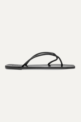 Atelier Atp ATP Alessano Leather Sandals - Black