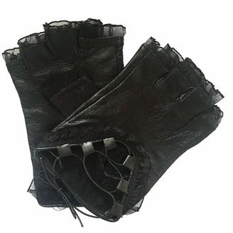 Amuse Miumiu Fashion Woman Lace Performance Anti-skid Strap Gloves (Black)