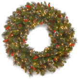 Crestwood National Tree Company 30 Spruce Wreath w/ Battery Operated Warm White LED Lights