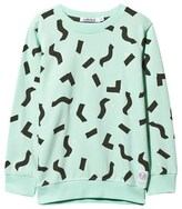 Indikidual Mint Green Confetti and Spot Print Sweatshirt