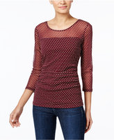 INC International Concepts Petite Printed Illusion Top, Only at Macy's
