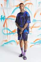 BoohooMAN Quavo Oversized Tie Dye T-Shirt & Short Set