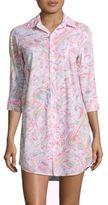 Lauren Ralph Lauren Paisley Hi-Lo Sleep Shirt