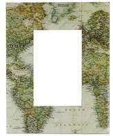 Decoupage photo frame (4x6), 'Globetrotter'