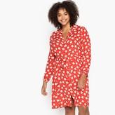 Castaluna Plus Size Floral Print Tie-Waist Shirt Dress