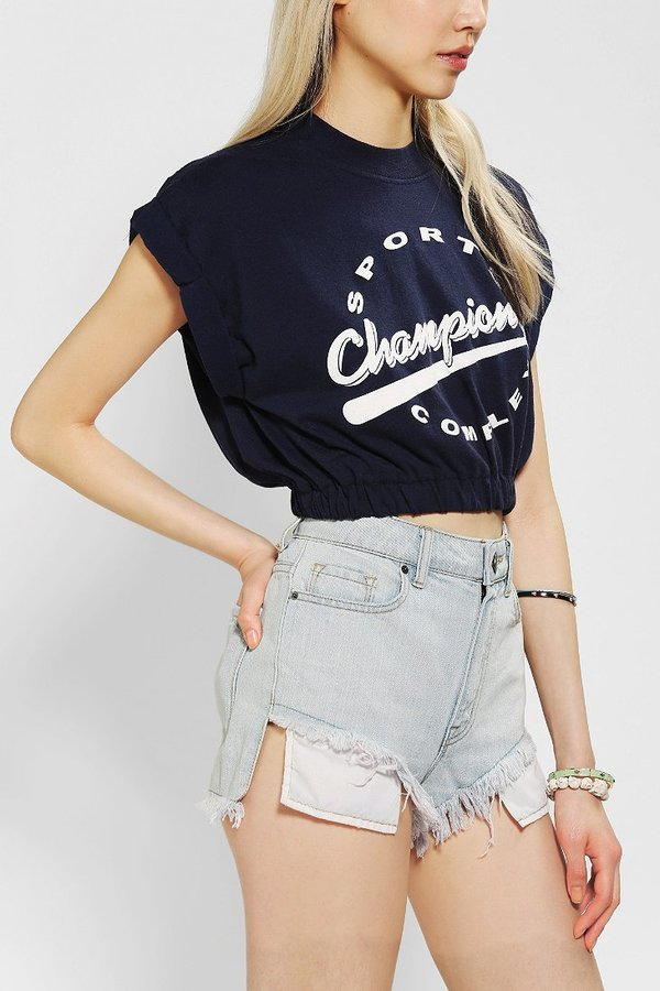 Urban Outfitters Urban Renewal Cinched & Cropped Tee